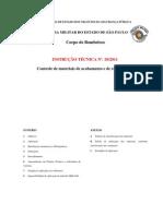 INSTRUÇÃO TÉCNICA Nº 10-2011 Controle de materiais de acabamento e de revestimento - final