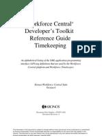 Kronos WFC Developers Toolkit Reference Timekeeping v6