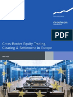 Cross-border Equity Trading Clearing & Settlement in Europe (by Deutsche Borse)