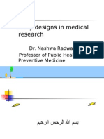 Study Designs in Medical Researches
