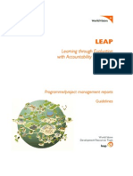 LEAP Programme Project Reporting Guidelines