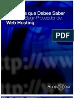10 Cosas Que Debes Saber Antes de Elegir Tu Proveedor de Web Hosting