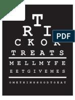Trick or Treat Eye Chart