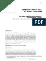 Genetica y Psicologia El Nuevo Paradigma