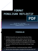 Refleksi - Format