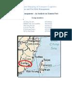 Xiamen Port Risk Assessment Final Version