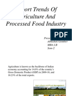Ex Trends of Agri n Food Indus