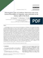 Paleomagnetic study of Cambrian–Ordovician rocks in the Eastern Precordillera of Argentina some c
