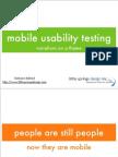 Mobile Usability Testing 3542