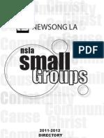 Newsong LA Small Group Directory