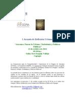 Invitación I Jornada de Reflexión Urbana