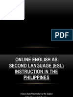 ORAL PRESENTATION_Online English as Second Language (ESL) Instruction in the Philippines