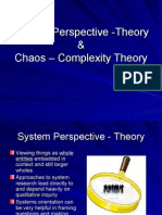 system & chaos theory