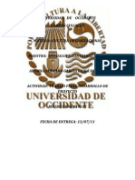 UNIVERSIDAD   DE    OCCIDENTE123654