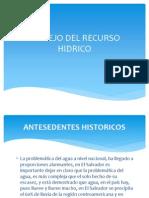 Manejo Del Recurso Hidrico