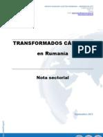 Nota sectorial - Transformados cárnicos en Rumanía SEPT 2011