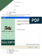 Installation of Tally.erp 9 Multi User
