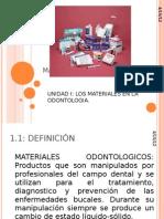 MATERIALES DENTALES unidad 1