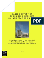 Basel Convention Technical Guidelines on Incineration on Land