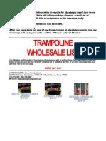 Trampoline Wholesale List Bb292b
