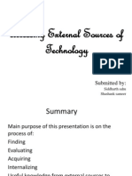 Accessing External Sources of Technology1
