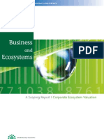 Business and Ecosystems - a Scoping Report Corporate Ecosystem Valuation