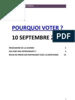 Pourquoi Voter ? 10 septembre 2011