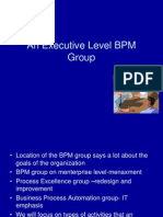 6. an Executive Level BPM Group