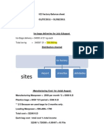ICE Factory Balance Sheet