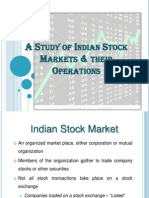 A Study of Indian Stock Markets