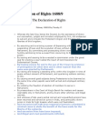 He Declaration of Rights 1688