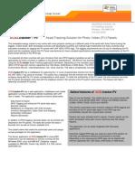 XCELtracker for PV Panels Brochure Ver 1001