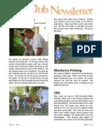 Kids Club Newsletter #3
