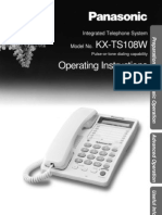 Panasonic KXTS108W