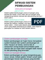 Klasifikasi Sistem Pembuangan Kotor