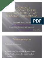 Diferencias Entre Psicoanálisis y Las TerapiasCognitivas