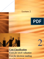 Lecture 2 Cost Classification