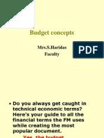 Budget Concepts.
