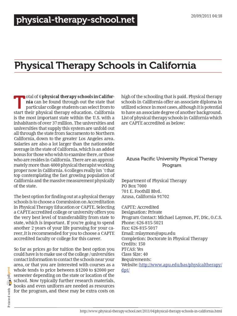 California physical therapy university - Physical Therapy Schools In California Physical Therapy Bachelor S Degree