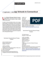 Physical Therapy Schools in Connecticut