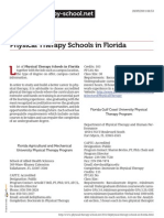 Physical Therapy Schools in Florida