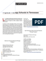 Physical Therapy Schools in Tennessee