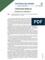 Real Decreto 563-2010, de 7 bde mayo, por el que se aprueba el Reglamento de artículos pirotécnicos y cartuchería
