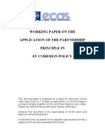 Working Paper On The Partnership Principle In The EU Cohesion Policy