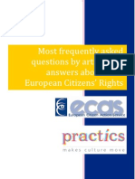 Most frequently asked questions by artists and answers about their European Citizens' Rights