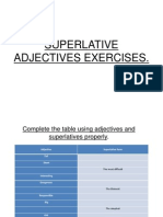 8vos Superlative Adjectives Exercises