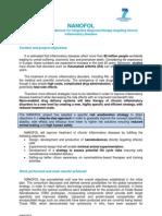 NANOFOL Publishable Summary M18
