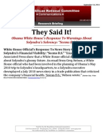 """They Said It! White House Though Warnings About Solyndra Seemed """"B.S."""""""
