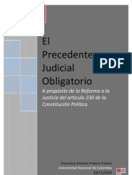 El Precedente Judicial Obligatorio