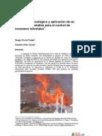 Desarrollo Tecnológico y Aplicación de un Sistema de Pantallas para el Control de Incendios Forestales